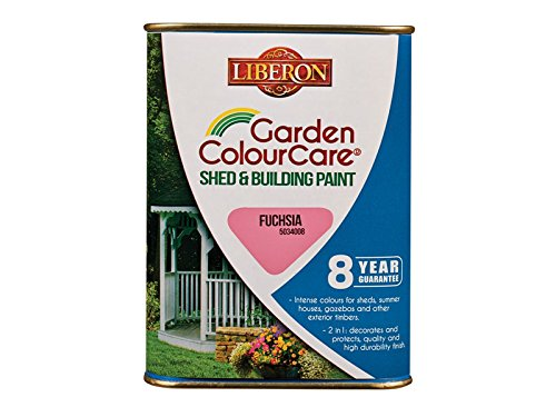Liberon Shed and Building Paint 1L Color Fuchsia