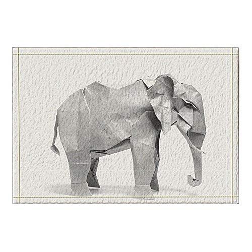vrupi Alfombras de baño de Elefantes Origai Antideslizantes Alfombrillas para Puertas de...