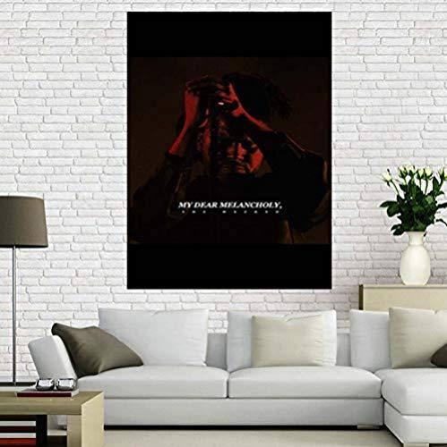 XQWZM Poster su Tela Personalizzato, The Weeknd Trilogy Music Poster, per la Decorazione Domestica Stampa su Poster in Tessuto 40X60 cm Senza Cornice