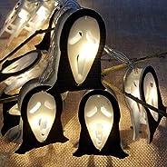 KH Halloween String Lights, LED Ghost Lights,LED Skull Lights Holiday Lights for Outdoor Decor,2 Modes Steady/
