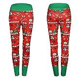 MAYUAN520 Impresión de Navidad Rojo deporte leggings pantalones de yoga Fitness mujer alta cintura elástica Sportswear Leggins Push Up fitness femenino Polaina,S
