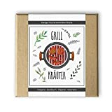 Grill Kräuter Box: Saatgut und Samen / BBQ, Grillen, Kräuter, Gewürze, Küche, Anzucht, Geschenk