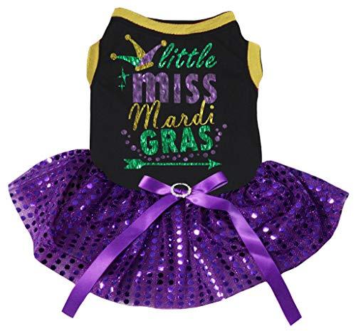 iss Mardi Gras Hut Baumwolle Shirt Tutu Welpen ()