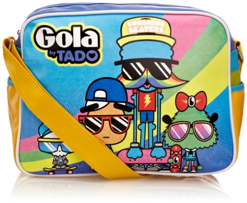 Gola Borsa sport, Blue/Yellow/Violet (Blu) - TUB 289 Blue/Yellow/Violet