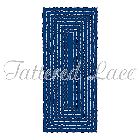 Tattered Lace Torn Edge Tall Slim (Rectangles) - Craft Nesting Die Set - TLD0312