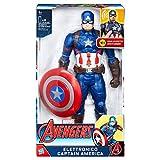 Hasbro C2163103L'eroe patriota torna con il suo inseparabile scudo in vibranio e un altezza di oltre 30 cm per battersi accanto agli Avengers a protezione dei più deboli. Versione da collezione di Capitan America che pronuncia le frasi origin...