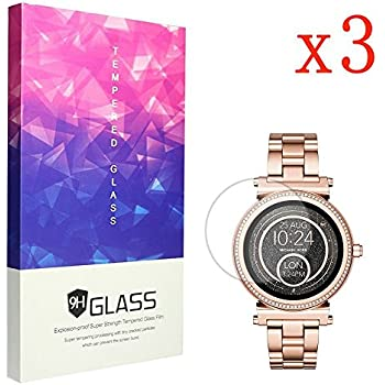 f84a782c570 Ceston 9H Tempered Glass Screen Protector For Michael Kors Smartwatch Sofie  Gen 2 (3 Pack)