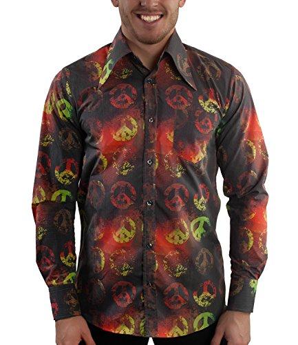 Kostüm Türkei Für Erwachsene - Comycom Peace Zeichen 70er Hippie Hemd bunt L