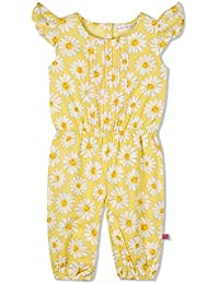 Budding Bees Girls Yellow Floral Jumpsuit