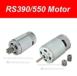 Universal 550 390 Electric Motor RS550 RS390 Motor Drive Engine Accessory for Kids Power Wheels RC Car Children Ride on Toys Parts (550 12V, 8000RPM)