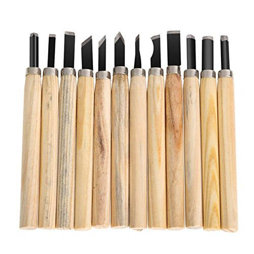Okayji Hand Wood Carving Chisels Knife for Basic Woodcut Working...