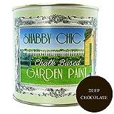 Shabby Chic, colore: marrone cioccolato scuro a base di gesso-Vernice da giardino, 1 l