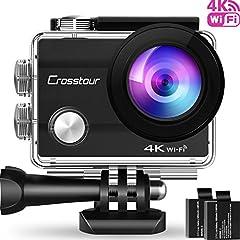 Crosstour Action Cam 4K WiFi Unterwasserkamera Test