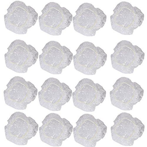Artibetter 100 stücke Einweg klar wasserdicht ohrabdeckungen gehörschutzkappen für duschsalon haarfärbemittel baden