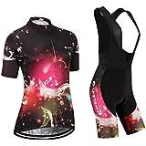 (Cojín 3D)(traje(strap blancas) tamaño:L) ropa Jerseys sudo manga rendimiento rompevientos mujer de Moda corta maillot chaleco los ciclismo para transpirable