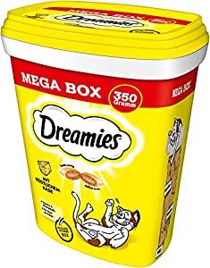 Dreamies Katzensnacks Katzenleckerli MegaBox mit Käse, 2 Dosen (2 x 350 g), 700 g