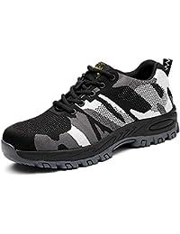 hot sale online 1b63e d8f26 CHNHIRA Chaussures de Sécurité Homme Embout Acier Protection Confortable  Léger Respirante Unisexes Chaussures ...