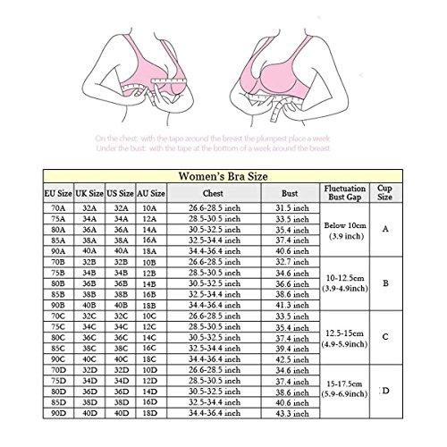 Keysui Femmes Soutien-gorge Sexuel avec Dentelle Sports Bra Yoga Gilet Sommeil Bra Aucune Trace sans Jantes Comfortable Beige