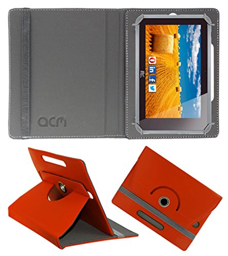 Acm Rotating 360° Leather Flip Case for Hcl Me Connect 3g 2.0 Y4 Cover Stand Orange  available at amazon for Rs.149