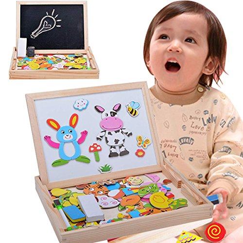 lzeug Staffelei Magnetic Doodle Kinder aus Holz Zeichnung Tafel 3D Holz malen Tool ab 3 Jahren ()