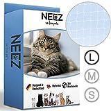 NEEZ Red para Gatos, de 3 x 4, 3x6, 3x8 m, para balcón, Transparente (3x8m)