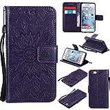 BoxTii Coque iPhone 6 / iPhone 6s, Etui en Cuir de Première Qualité [avec Gratuit Protection D'écran en Verre Trempé], Housse Coque pour Apple iPhone 6 / iPhone 6s (#7 Violet)