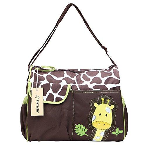 Fafada Cartoon Windel Wickeltasche Schwangerschaft Multifunktionale Mama Handtasche Grün Giraffe