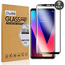 Owbb Tempered Glass Screen Protector For LG V30 Black 3D Full Coverage Film 99% Hardness High Transparent Explosion-proof
