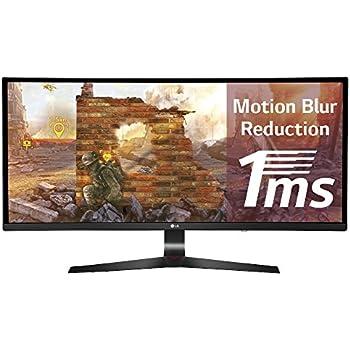 LG 34UC79G-B 86,4 cm (34 Zoll) Curved UltraWide Gaming-Monitor (2x HDMI, DisplayPort, USB 3.0, inklusive USB Quick Charge für Port 1, 1x 3.5 mm Klinke Kanäle, 1 ms Reaktionszeit)