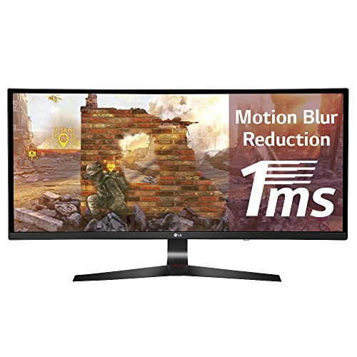 LG 34UC79G-B - Monitor gaming ultrapanorámico curvo de 86.4cm (34 pulgadas, Full HD 21:9, IPS 2560 x 1080 pixeles, 1 ms, 144Hz, AMD FreeSync), negro