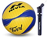 Nivia Twirl Volleyball and Nivia Ball Pump Double Action