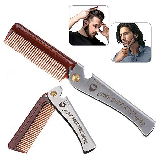 Peine hombres, Herramienta peluquería plegable Barba