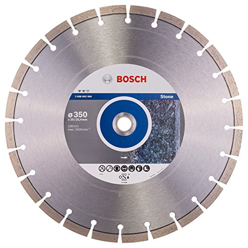 BOSCH 2 608 602 594  - DISCO DE CORTE DE DIAMANTE EXPERT FOR STONE - 350 X 20 00+25 40 X 3 2 X 12 MM (PACK DE 1)