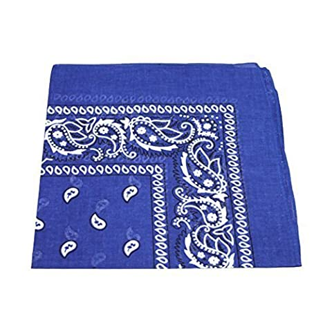 Paisley Pattern 100% Cotton Bandana for Pet Dogs (Royal