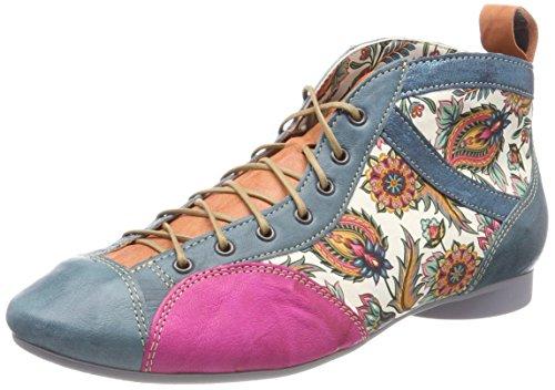 Think! Damen Guad_282288 Desert Boots, Blau (Lagune/Kombi 79), 38.5 EU (Leder Damen Bootie)