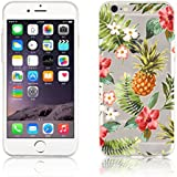 Coque iPhone 6 Coque iPhone 6s silicone transparente | JammyLizard | Coque silicone transparente résistante pour iPhone 6 6s, Tropicale