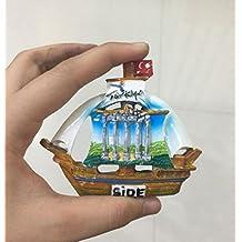 3d, polirresina Alanya Turquía turístico recuerdo, resina imán para nevera Creative Home cocina decoración promoción regalo