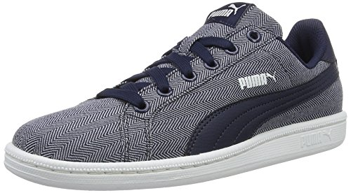 puma-puma-smash-herringbone-unisex-adults-low-top-sneakers-blue-peacoat-peacoat-01-11-uk-46-eu