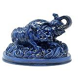 Feng Shui elefante azul y rinoceronte para protección + libre Mxsabrina rojo pulsera de...