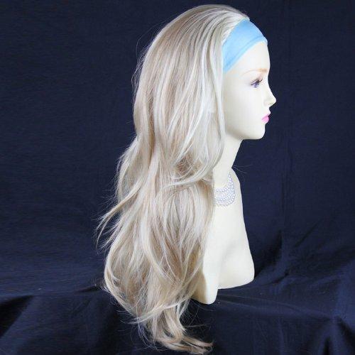 Wellig-stick (Blonde Mix 3/4Â Haarintegration Lange Glatte Abgestufte Wellig, Hälfte Perücke Haarteil)