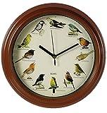 OOTB Horloge aux voix d'oiseaux, Plastique, multicolore, 30 x 4.5 x 30 cm