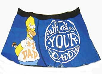 The Simpsons Official Homer Gift Mens Boxer Shorts Blue (RRP £9.99!) Large