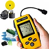 Taizhilong Portable Fish Finder Upgrade Fish Finder Depth Fishing Finder With Wired Sonar Sensor Transducer For Fishing