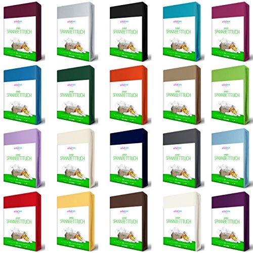 EllaTex Venezia 0010054 Jersey Spannbettlaken aus 100{a3747254e54457fd597b822f875f3e899b291560977c5c817ca2a2c6b5265aff} Baumwolle, Größe: 120x200 bis 130x200 cm, Farbe: Silbergrau