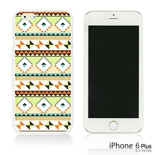 OBiDi - National Paintings Hardback Case / Housse pour Apple iPhone 6 Plus / 6S Plus (5.5)Smartphone - Colorful Elephant ArtWork Green Geometrical Pattern