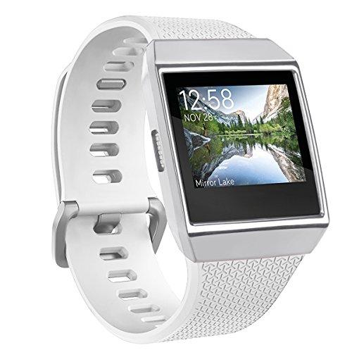 Funda protectora TopTen para Fitbit Ionic, suave protector de pantalla de TPU, carcasa de repuesto para reloj inteligente Fitbit Ionic, mujer, plata, 135-220mm