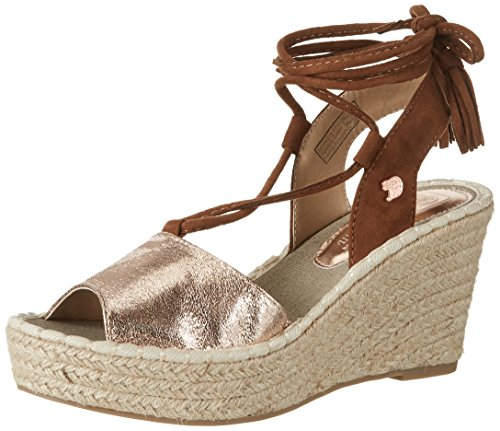 Tom Tailor Damen 2796602 Riemchensandalen, Gold (Rose-Gold), 41 EU