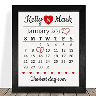 Personalised Presents Gifts For Him Her Husband Wife Couples Boyfriend Girlfriend First Ruby Silver Wedding Anniversary Valentines Day Christmas Xmas Calendar Date Framed Prints Posters Decor