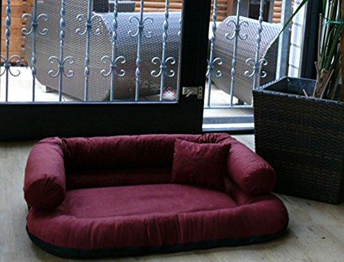 tierlando® CH5-05 CHARLY Hundesofa Hundebett Velours XL 120x90cm creme - 5