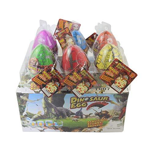 Dino Dinosaurier-Drache-Eier, die wachsendes Spielzeug ausbreiten Große Größe Packung mit 6 Stück, bunten Riss von Yeelan